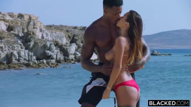 Black Diver And His Adorable Young Girlfriend Having Sex On The Beach